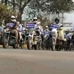 Third day of road safety month, SSP leaves for bike helmet rally