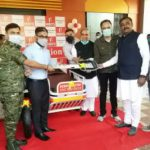 Hero ambulance handed over to district administration by Hero Company, will prove useful in inaccessible forest areas