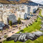 Artist Saype spray paints iconic 'Beyond Walls' frescoes in Cape Town
