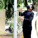 Director Mr. Singh hoisted the flag in public relations