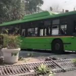 Farmer tractor rally DTC bus vandalised Delhi police personnel severely injured