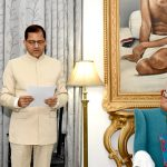 Governor Mrs. Patel administered oath to Mr. Parihar