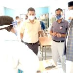 Minister Shri Sarang inspects Kovid Help Heart and Vaccination Heart